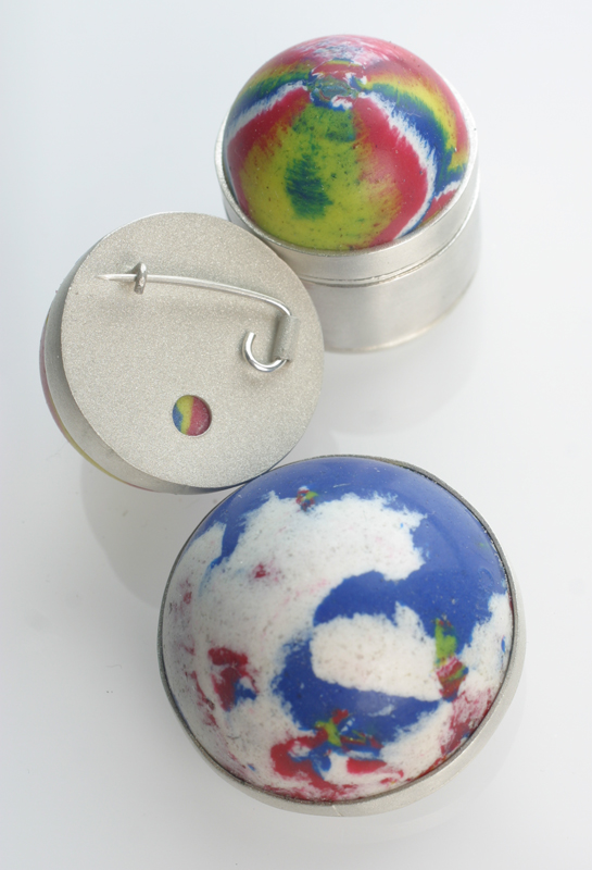 Bouncy Ball Brooches and Pot